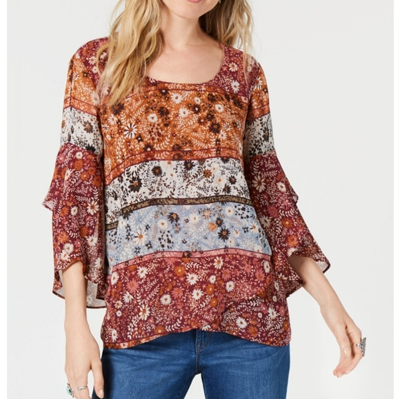 Style & Co Tops - STYLE & CO Mixed Print Top